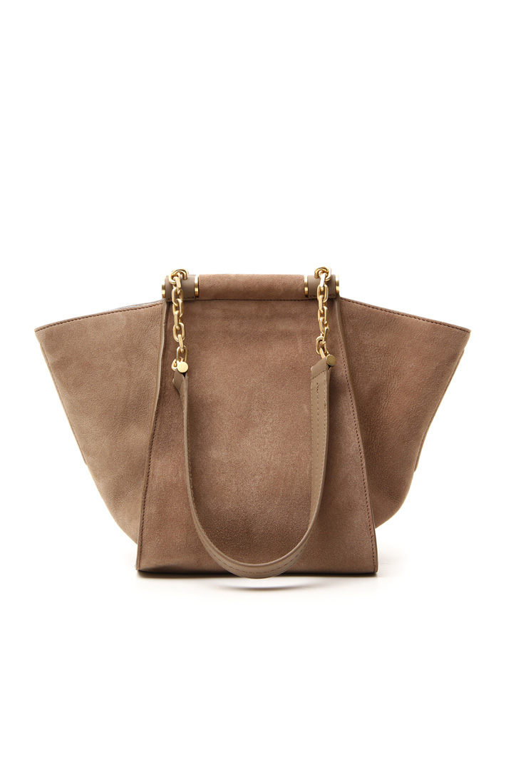 Suede shopping bag Intrend