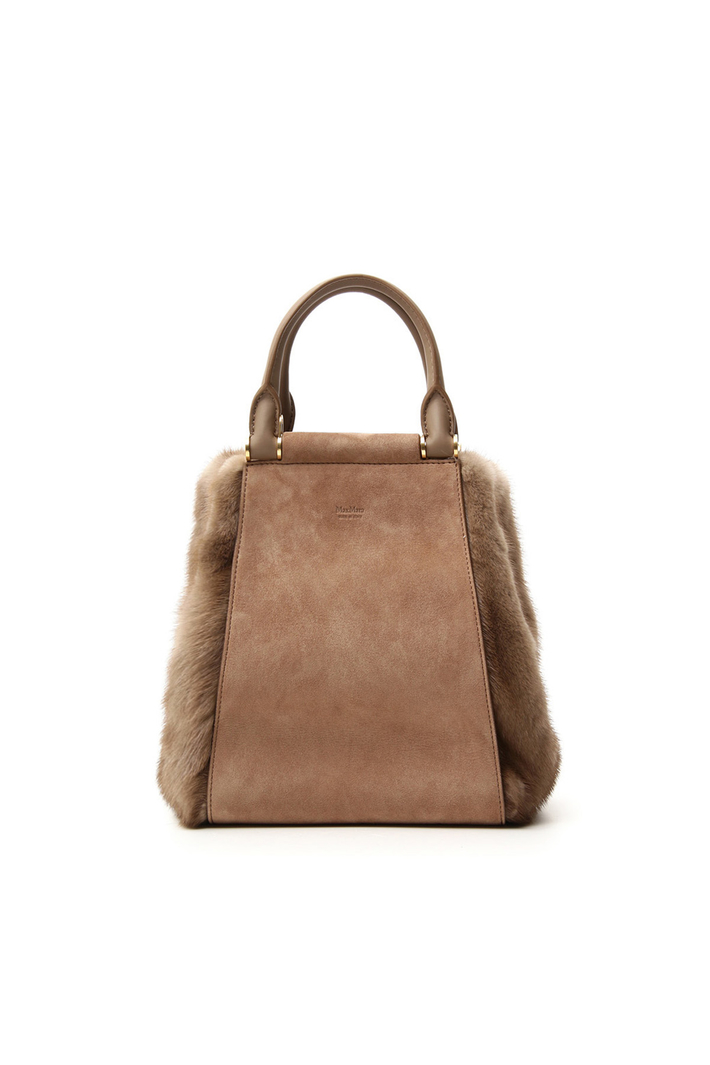 Suede and mink bag Intrend