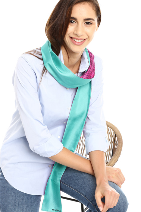Thin silk pattern scarf  Intrend