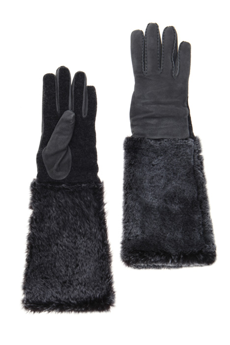 Shearling and wool gloves Intrend
