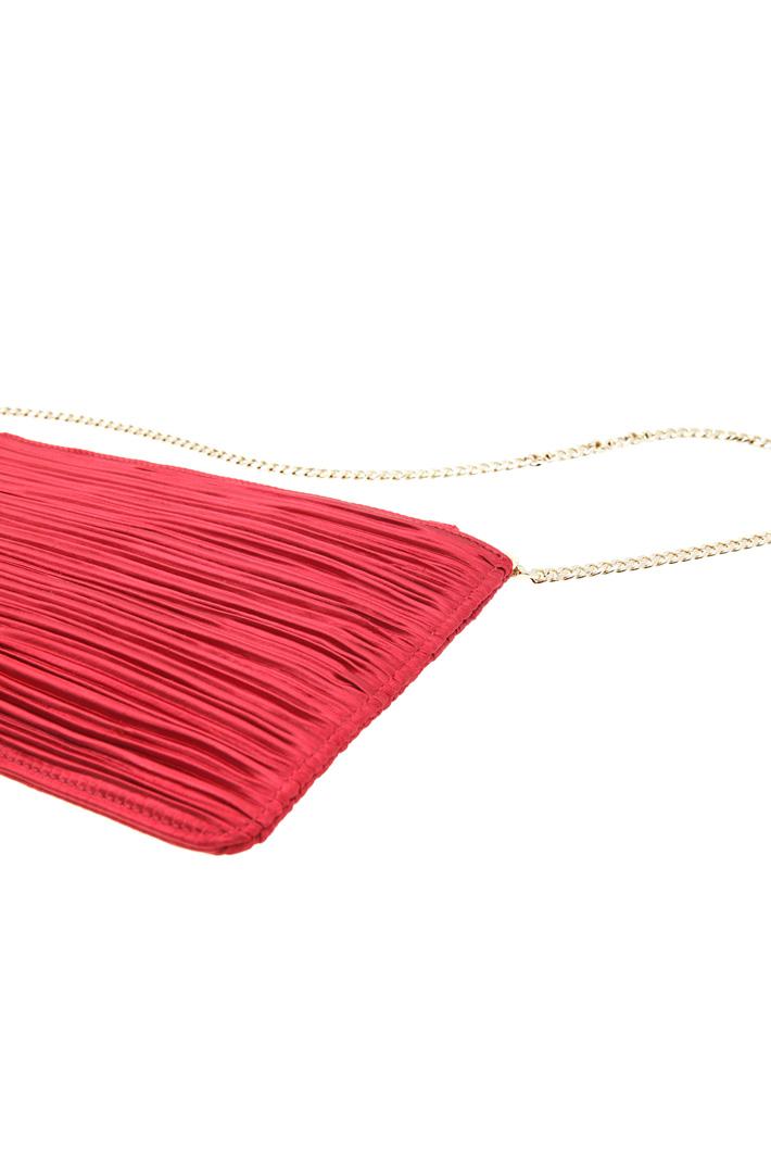 Pleated satin mini bag  Intrend