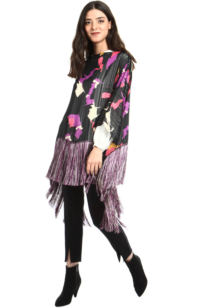 Jacquard poncho Intrend