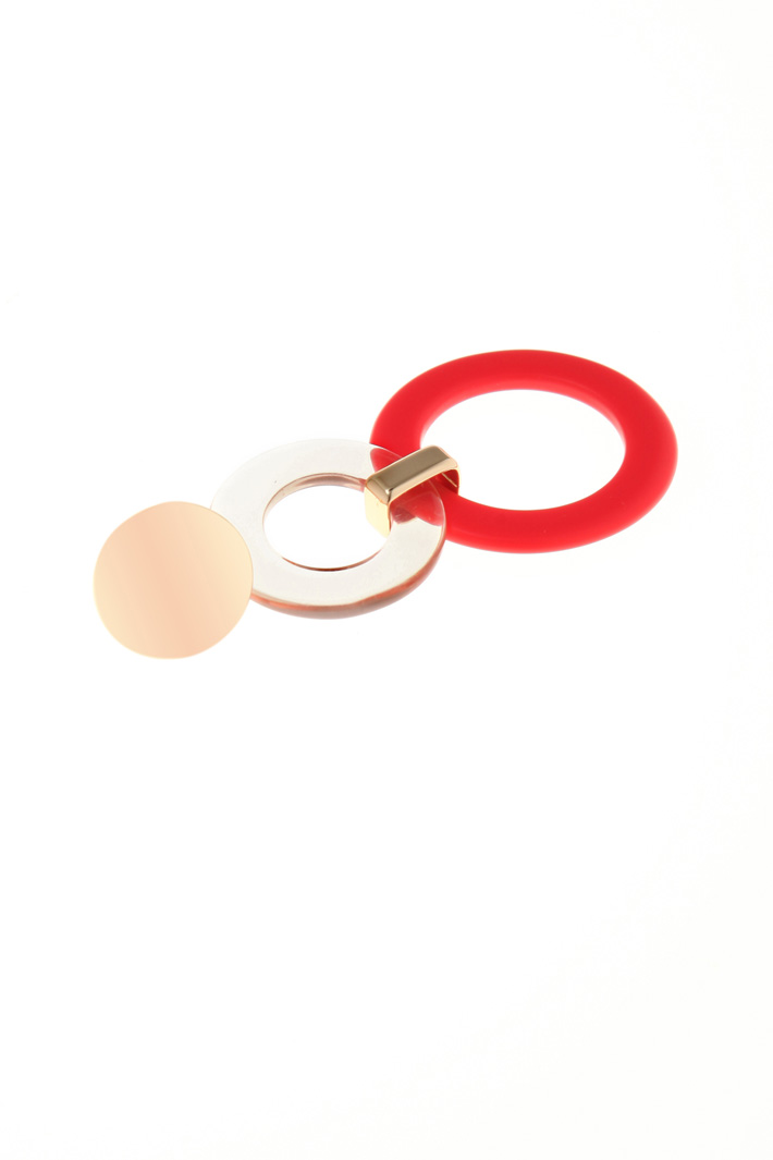 Resin ring drop earrings  Intrend