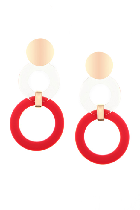 Resin ring drop earrings  Intrend