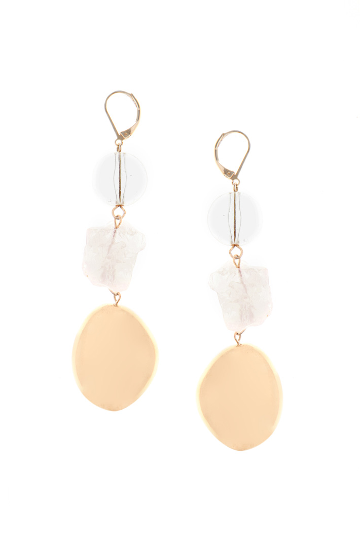 Drop quartz earrings Intrend