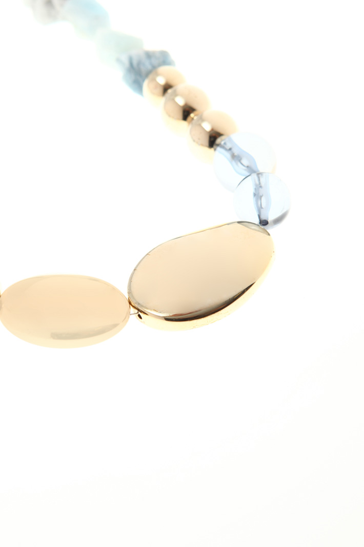 Necklace with irregular stones Intrend