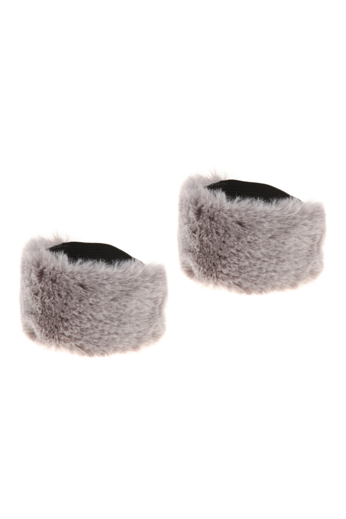 Plush cuffs for décolleté Intrend
