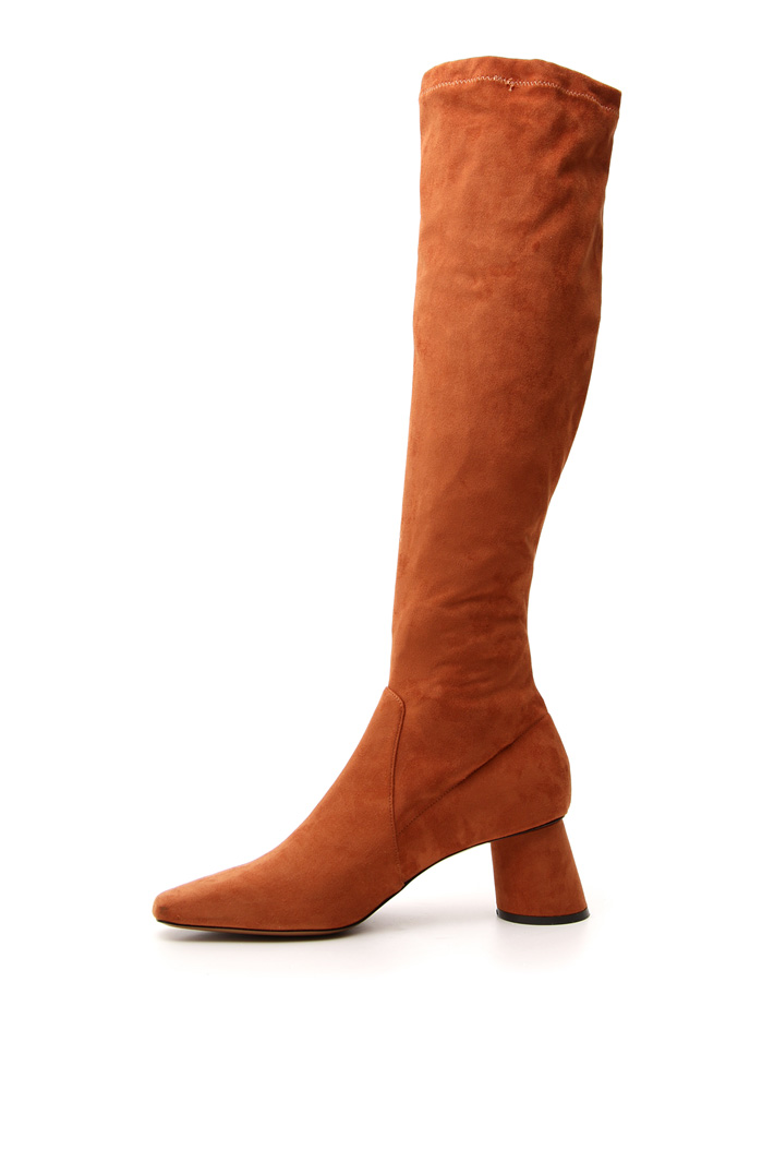 Suede effect slim boots Intrend