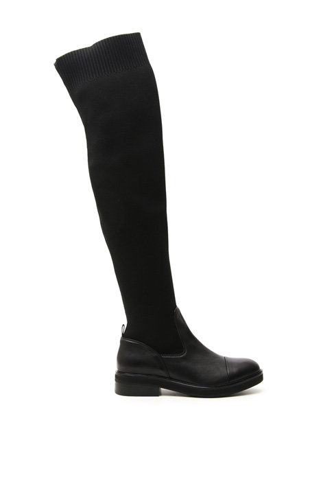 High knit and nappa boots Intrend