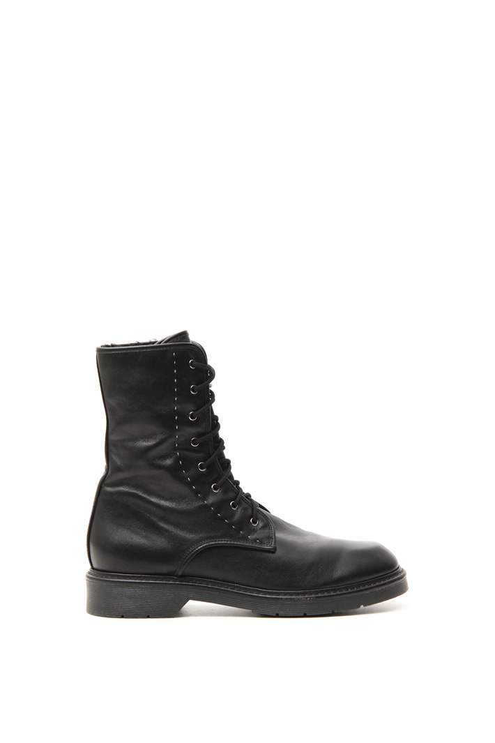 Leather army boots Intrend