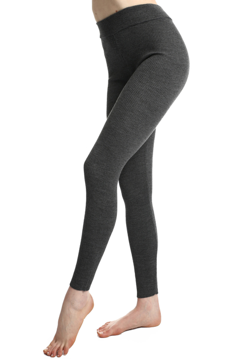 Ribbed knit footless tights Intrend