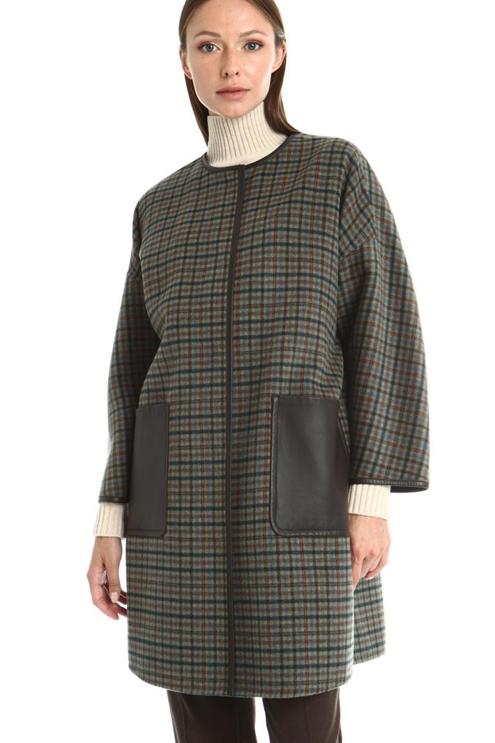 Reversible wool blend coat Intrend