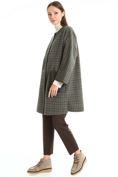 Reversible wool blend coat Intrend