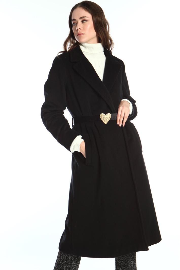 Cappotto in velour di lana Intrend