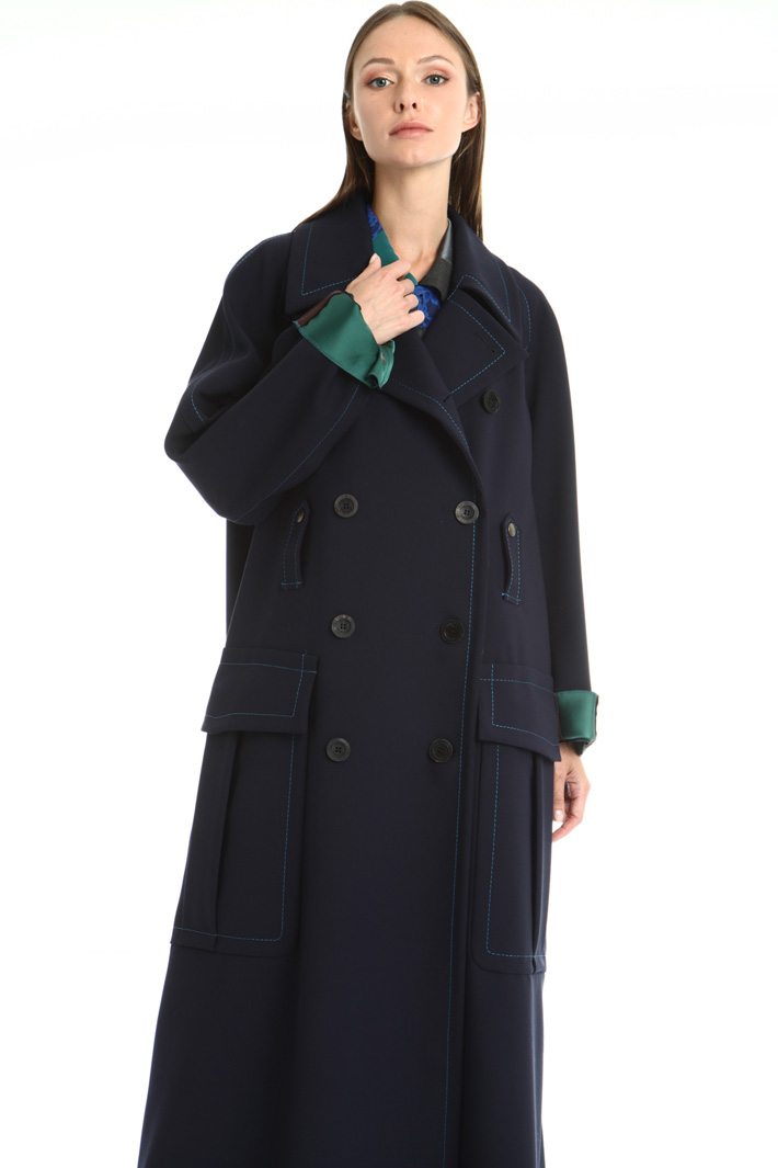 Wool blend canvas coat Intrend