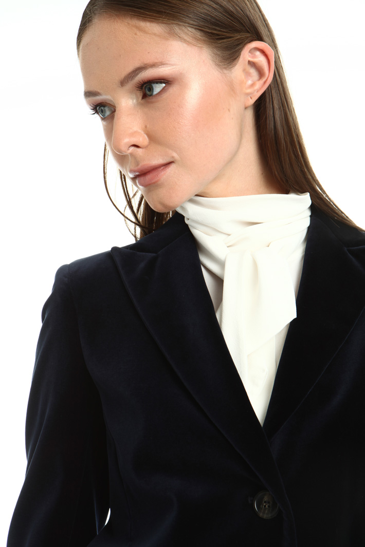 Stretch velvet blazer Intrend