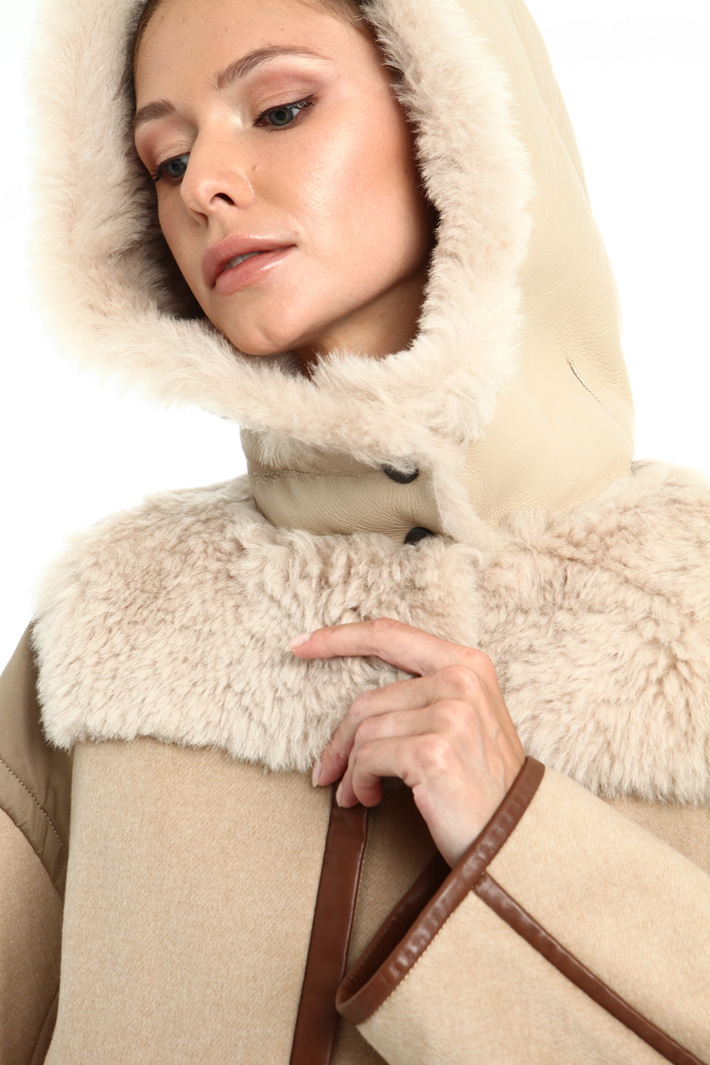 Wool and fur jacket Intrend