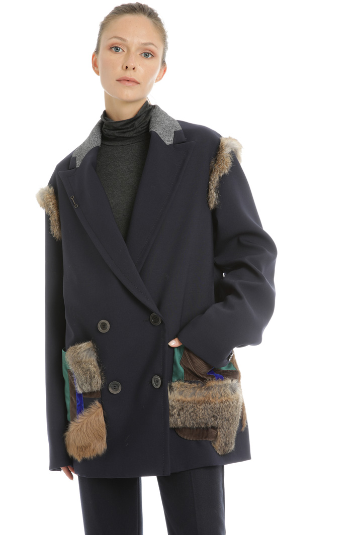 Wool blend pea coat Intrend