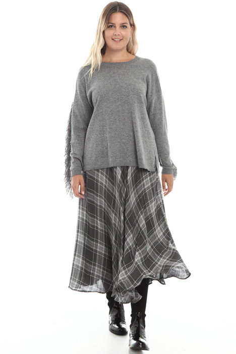 Yarn dyed wool blend skirt Intrend