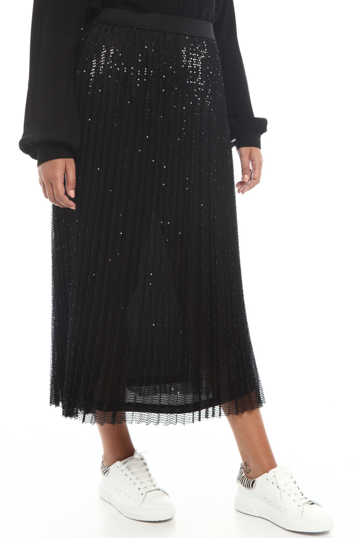 Tulle skirt with sequins Intrend
