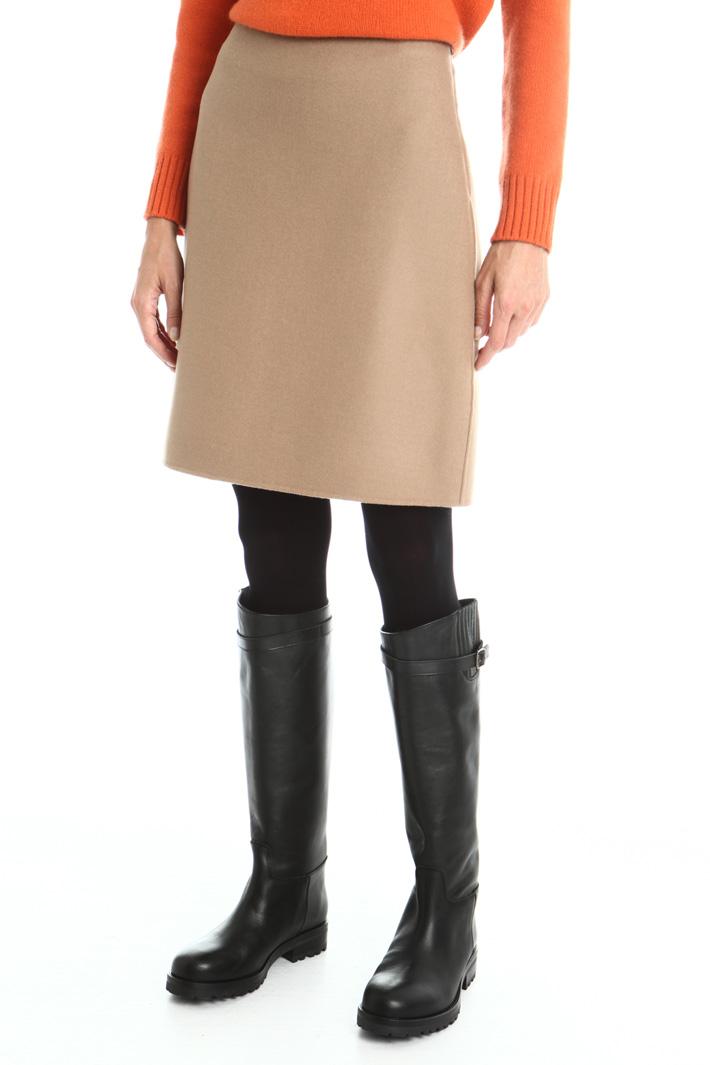 Wool drap mini skirt Intrend