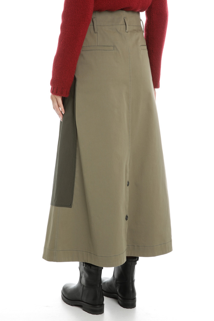 Cotton canvas skirt Intrend