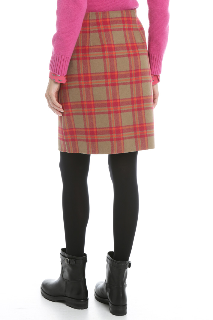 Checked wool skirt Intrend