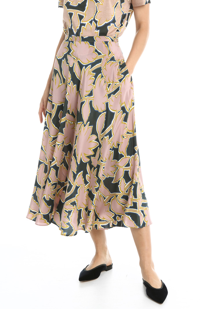Silk crepe de chine skirt Intrend