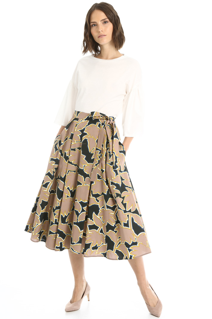 Wrap-Up skirt in cotton Intrend