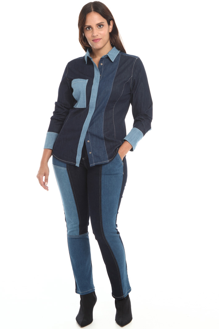 Stretch denim shirt Intrend