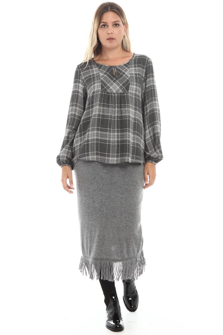 Lurex wool canvas blouse Intrend