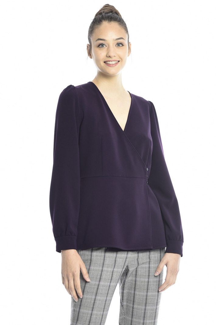 Wrap-up crepe blouse Intrend