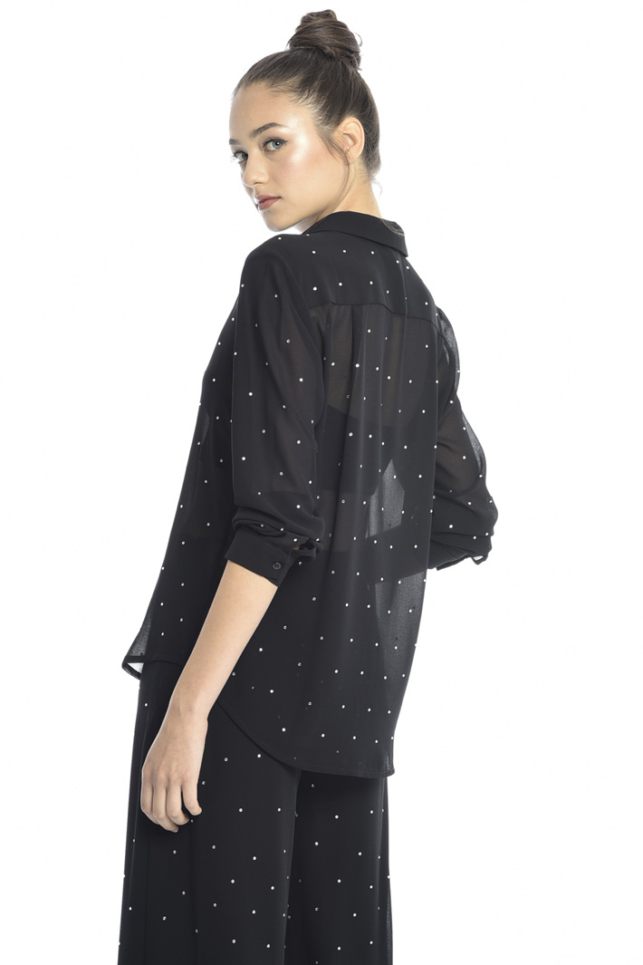 Rhinestone shirt Intrend