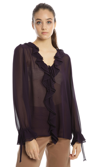 Frilled georgette blouse Intrend