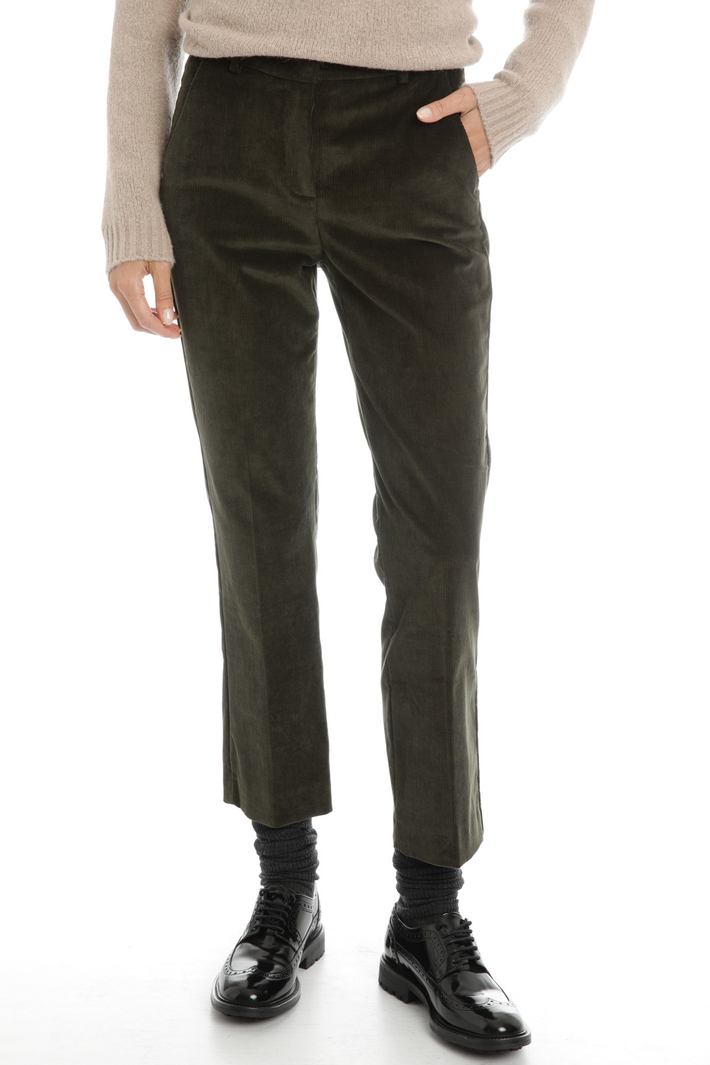 Stretch velvet trousers Intrend
