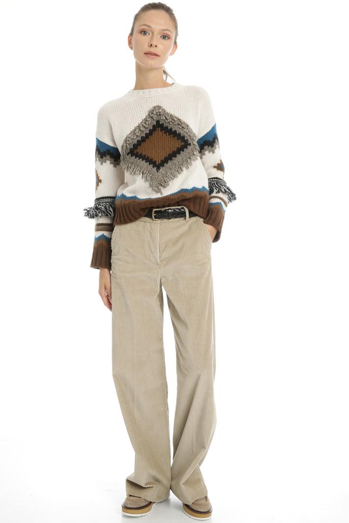 Straight leg corduroy trousers Intrend
