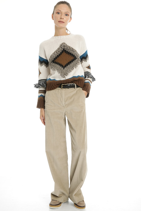 Straight leg corduroy trousers Intrend