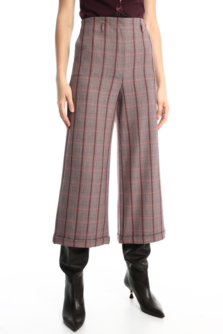 Wide leg viscose trousers Intrend