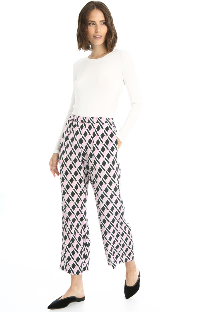 Silk crepe de chine trousers Intrend