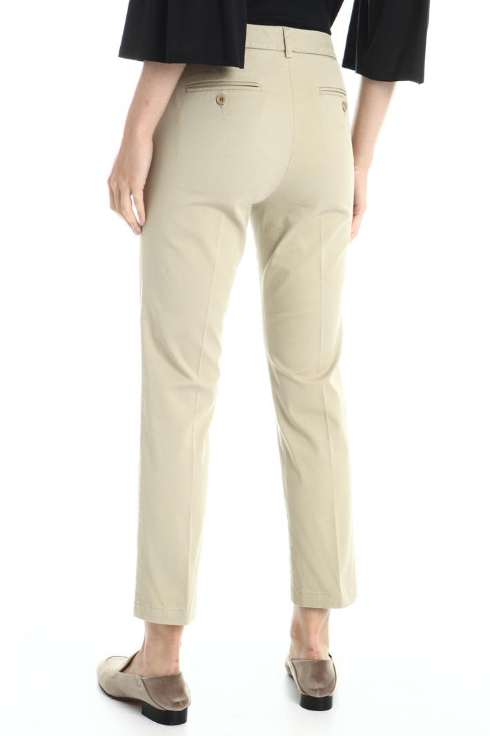 Pantaloni in twill di cotone Intrend