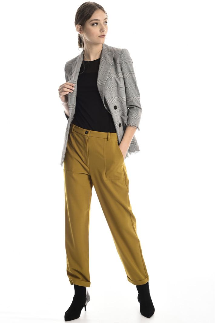Folded cuff trousers Intrend