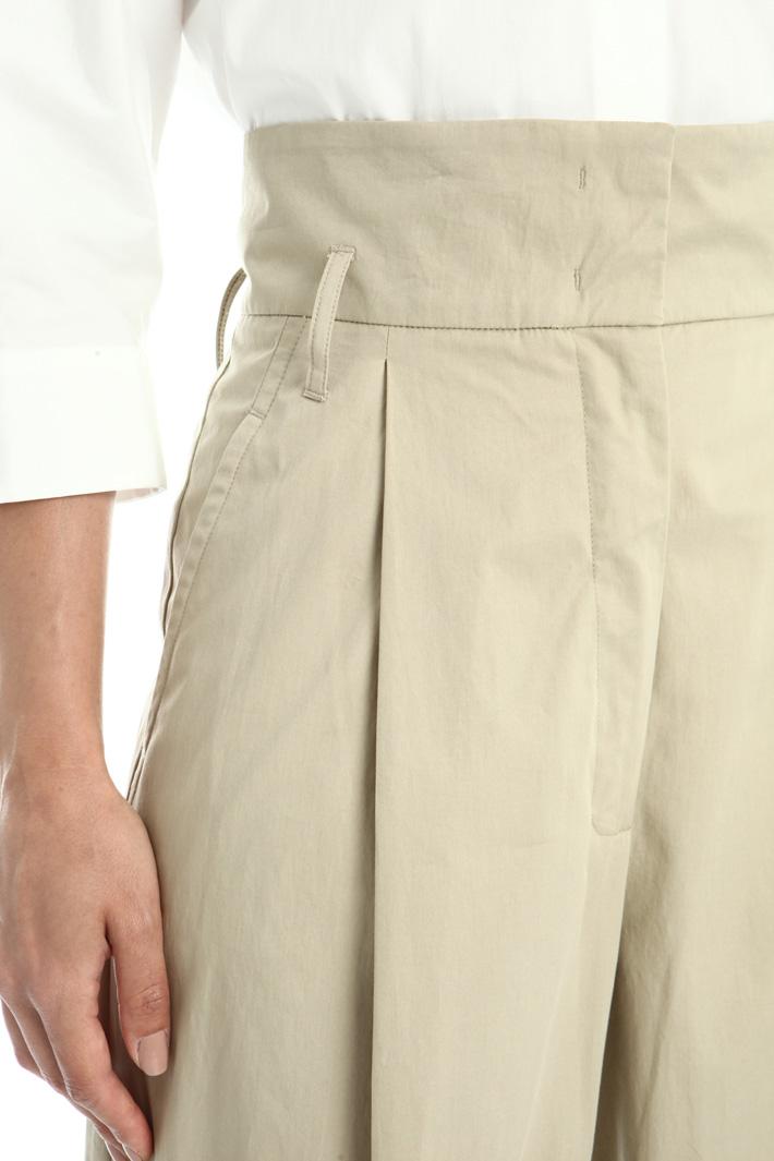 Cotton gabardine trousers Intrend
