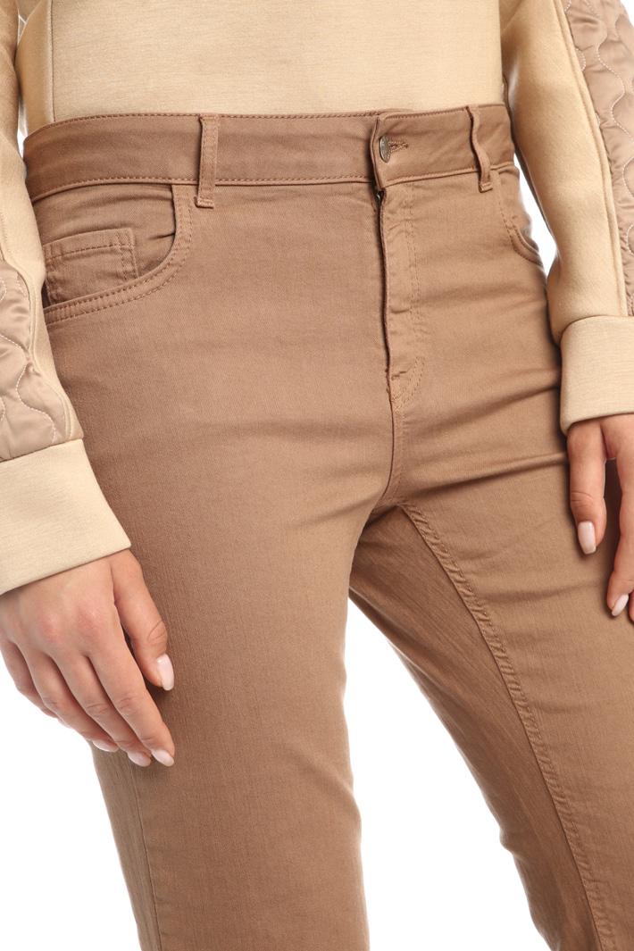 Pantaloni in bull di cotone Intrend