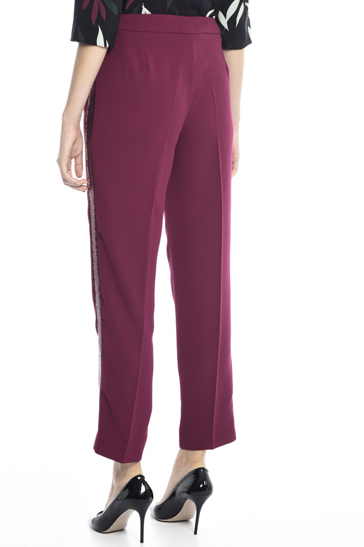 Sequinned stripe trousers Intrend