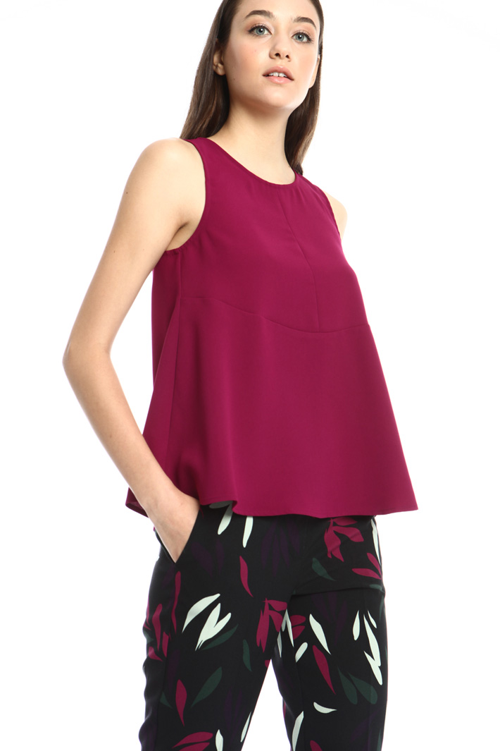 Fluid crepe top Intrend