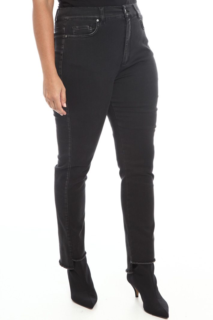 Satin denim jeans  Intrend