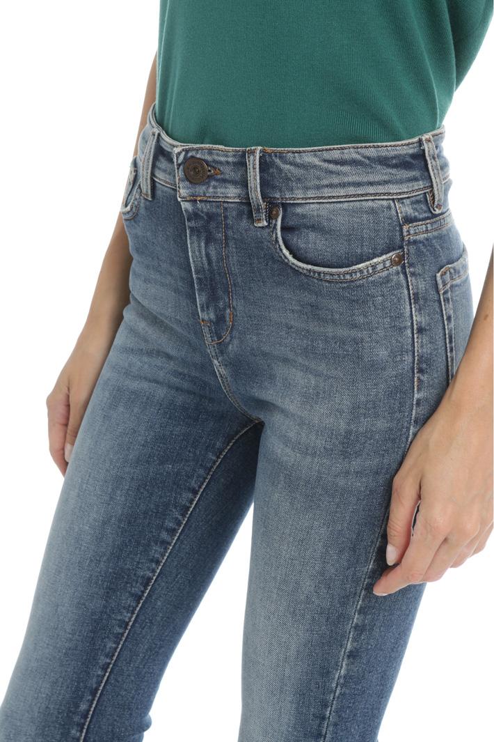 Denim cigarette trousers Intrend