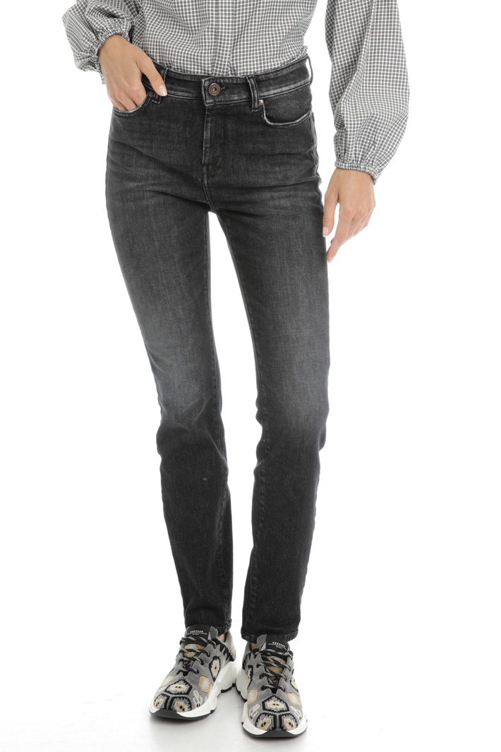 Denim cigarette trousers Intrend