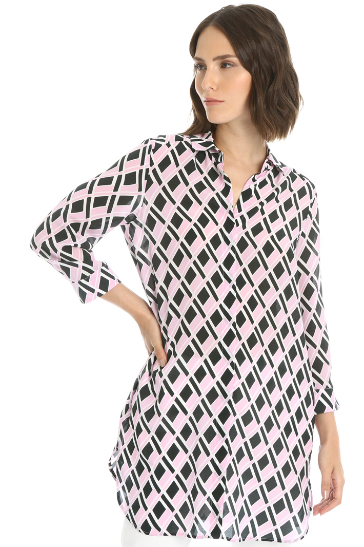 Patterned silk tunic Intrend