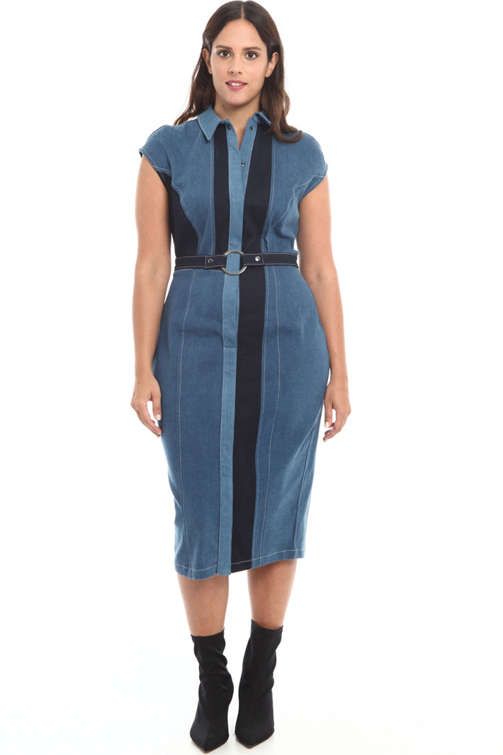 Stretch denim dress Intrend